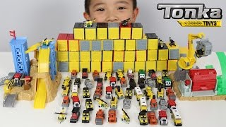60 TONKA Tinys Surprise Boxes Playset Unboxing  Fire Engine Truck Police Car Bulldozer Ckn Toys