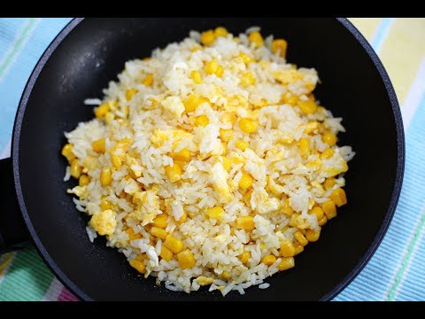 Corn Fried Rice : Thai Food Part 66 : Thai Food Recipe