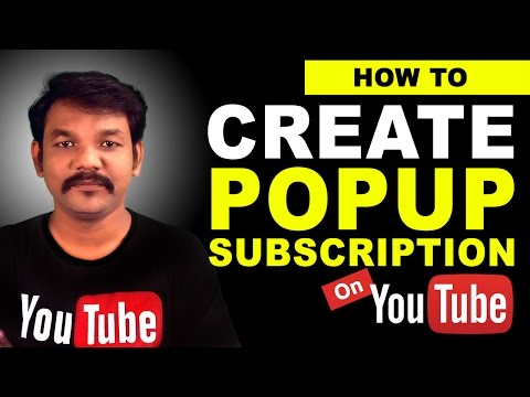 How to Create a Popup Subscription Button on Youtube Channel