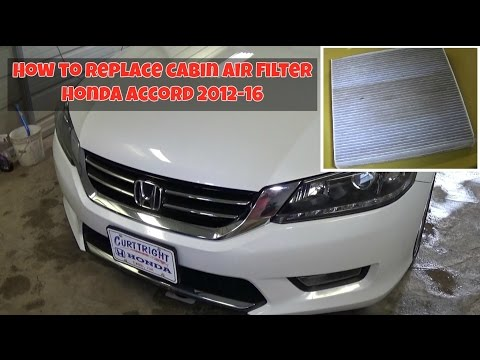 How to remove and replace the Cabin Air Filter on Honda Accord 2012-2016