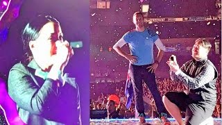 Chris Martin Helps Man Propose During Coldplay Concert In Melbourne  #ColdplayMelbourne #AHFODtour