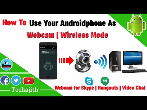 How to Use Your Android as a Webcam || wireless webcamera || skype calling || video chat
