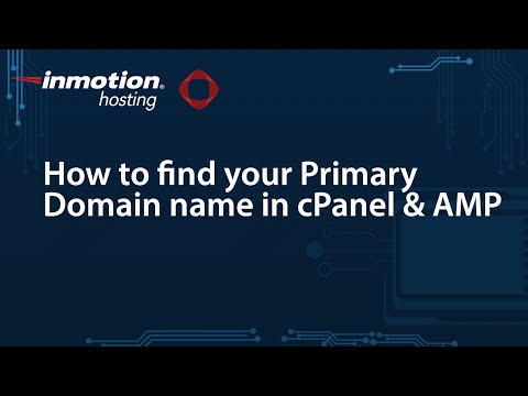 How to find your Primary Domain name in cPanel & AMP