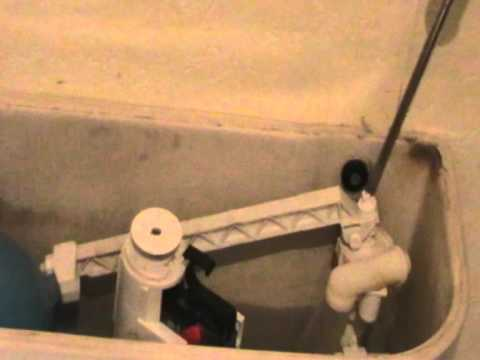 How to fix a toilet adjust ball valve arm.MOD