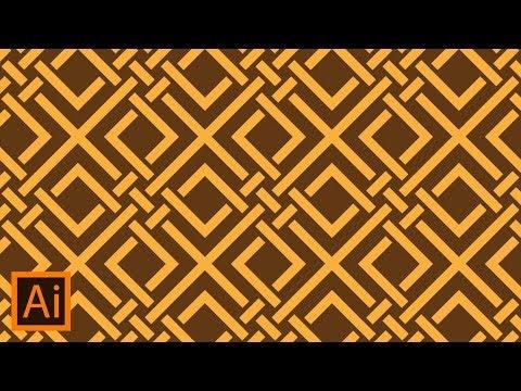 Adobe Illustrator Tutorial - Create Simple Geometric Pattern