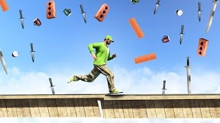 DODGE THE FALLING OBJECTS! (GTA 5 Funny Moments)