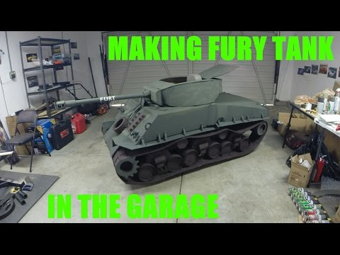 Making Fury Tank using Cardboard and Wheelchair
