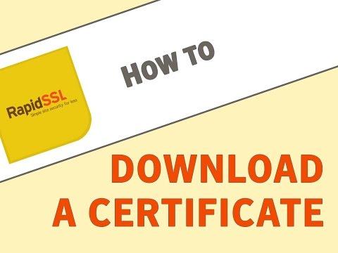 How to Download a RapidSSL Certificate