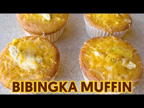 Bibingka Muffins with Salted Egg and Cheese - Panlasang Pinoy