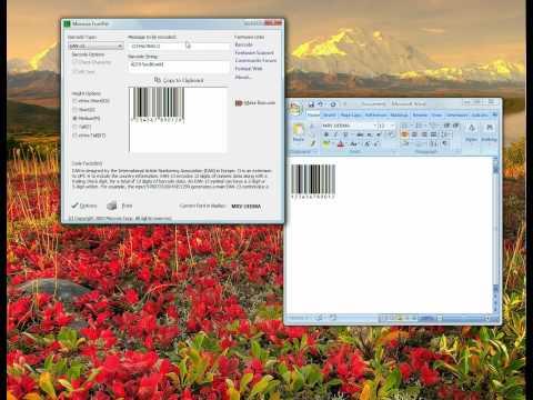 Creating UPC-A EAN-13 barcodes with Morovia FontPal