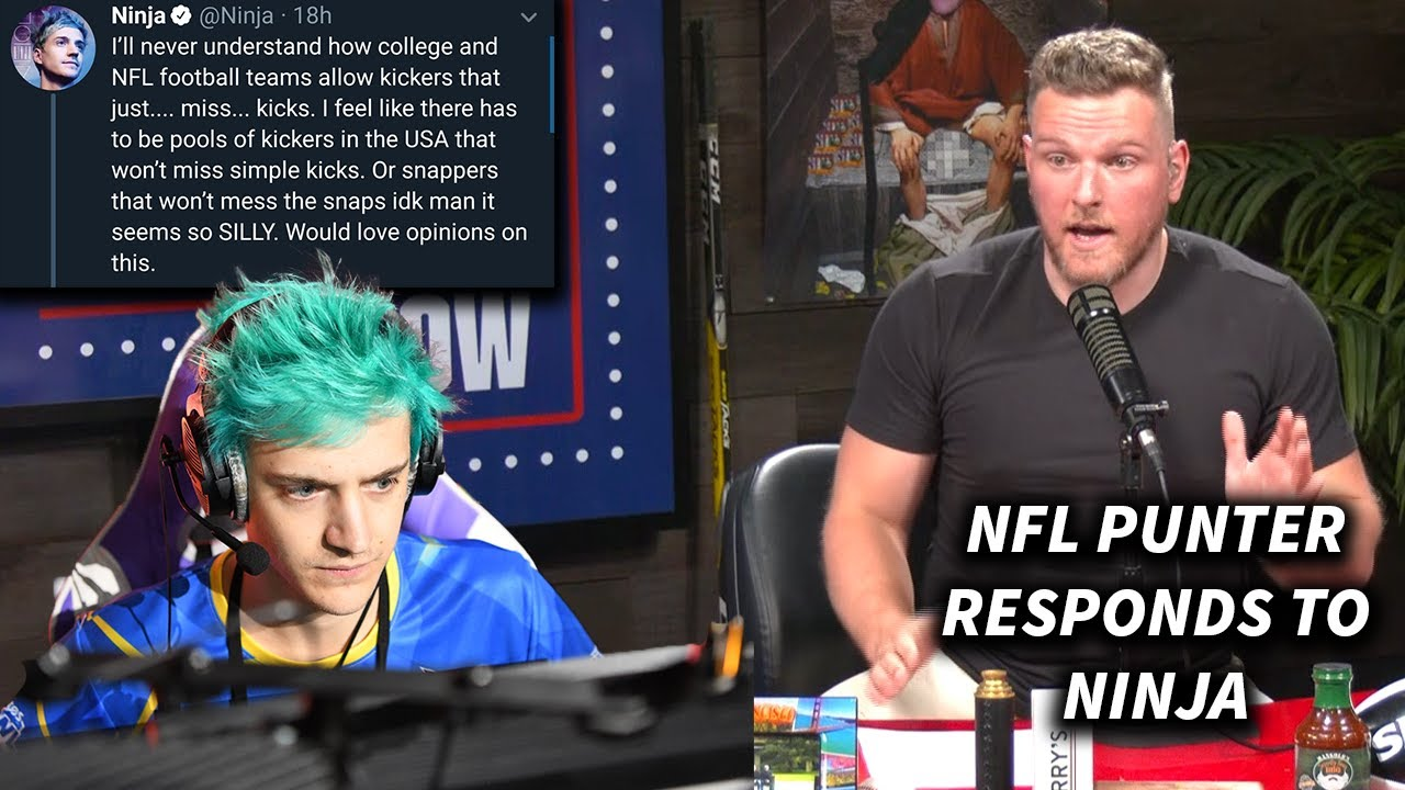Pat McAfee Responds To Ninja Talking About NFL Kickers Missing
