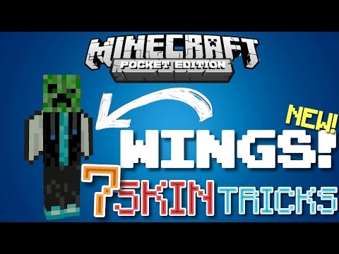 ✔️Minecraft PE - 7 SKIN TRICKS [SKIN SECRETS] // how to get secret, glitchy skins! {MCPE}
