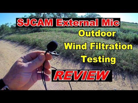 🎤   REVIEW: SJCam External Lapel Microphone.  Does it it help reduce WIND noise?