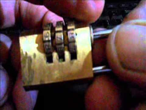 how to crack 3-wheel combo lock