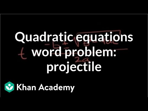 Example 4: Applying the quadratic formula | Quadratic equations | Algebra I | Khan Academy