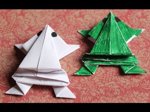 DIY - Jumping Frog | Paper Crafts Jumping Frog | How to make Paper Jumping Frog