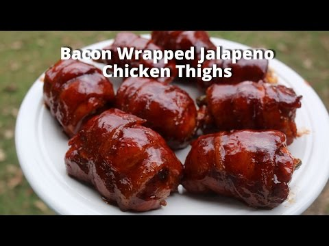 Bacon Wrapped Jalapeno Chicken Thighs | Stuffed Boneless Chicken Thighs Malcom Reed HowToBBQRight
