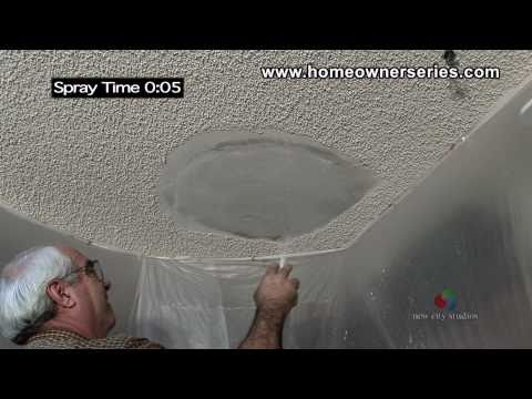 How to Texture Drywall - Popcorn Ceiling - Drywall Repair