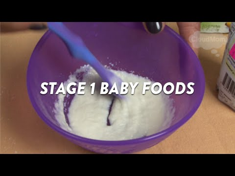 Stage 1 Baby Foods | CloudMom