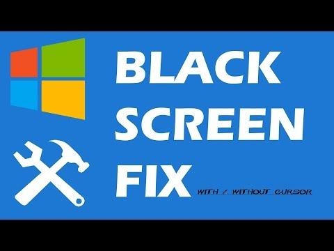 black screen of death windows 7 before login