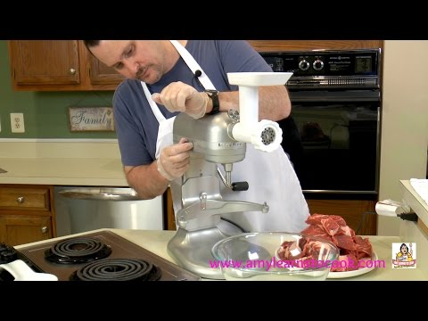 Eric's Fresh Ground Beef - KitchenAid Mixer Food Grinder Attachment