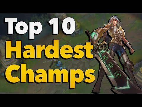 Top 10 Hardest Champions to Play and Master in League of Legends
