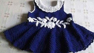 Vestidos Para Bebe Tejidos En Crochet Diseños Imagenes