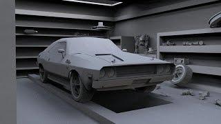 Blender 3D | Dodge challenger 1970 | Part 1
