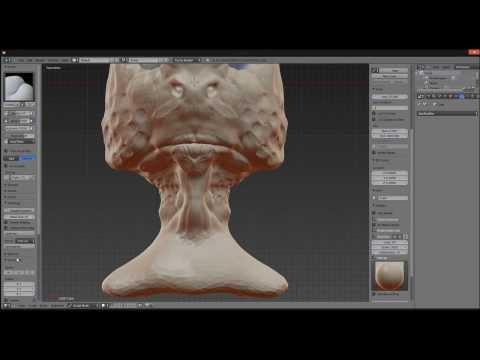 Sea Goblin Blender Dynamic Topology Sculpting Timelpase
