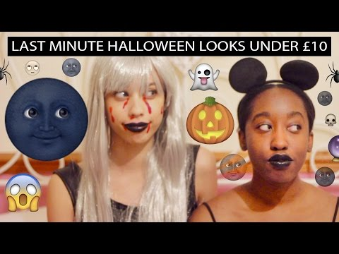 HOW TO: 2 Quick & Easy Last Minute Halloween 2015 Looks Under £10! Tutorial + Bloopers! 🎃🌚