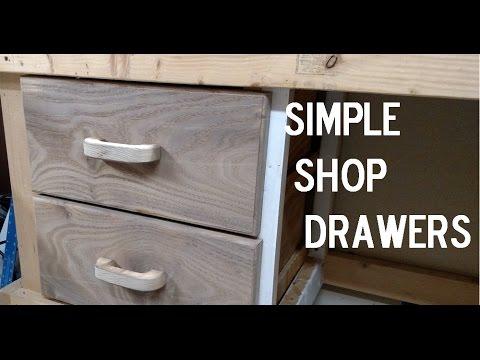 DIY Simple Shop Drawers- Jay Bates/Matthias Wandel Inspired