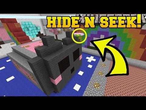 Minecraft: GIANT FLOWERS HIDE AND SEEK!! - Morph Hide And Seek - Modded Mini-Game