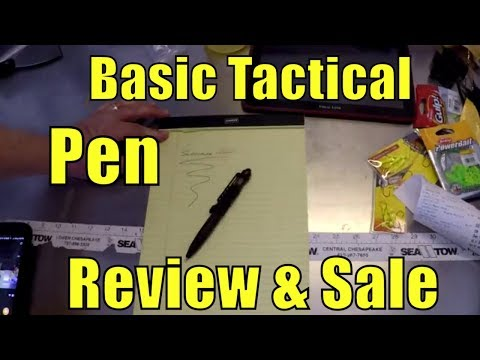 Basic Tactical Pen Review and SALE