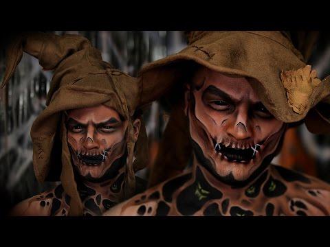 Scarecrow Halloween Makeup Tutorial