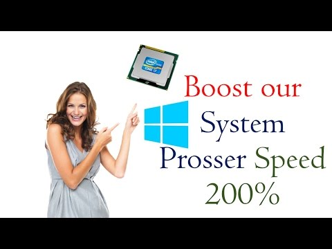 How to boost processor speed windows 10,8,7 (200% it's really works)