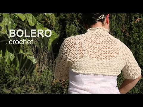 Tutorial Bolero Crochet Easy in English