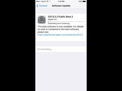 How to get an IOS 9.3.2 beta 3 ( IOS Tester )