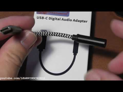 Dreamvasion USB-C to 3.5mm Adapter Type C to 3.5mm Headphone Aux Cable  DAC Chip REVIEW