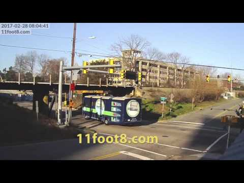 RV scrapes top at the 11foot8 bridge