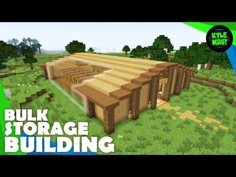 Minecraft Survival Storage Warehouse!