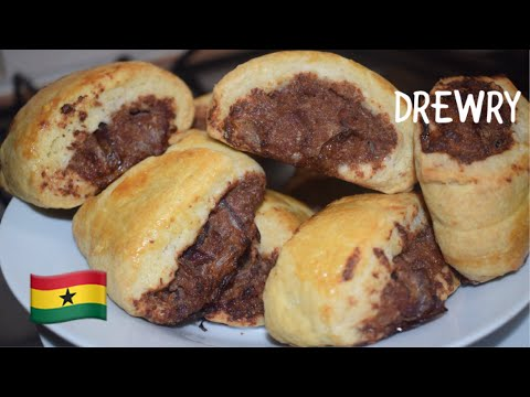 GHANA PARTY CORNED BEEF ROLLS (MEAT PIES)