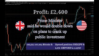 Boris Johnson doubles down on plans to crank up public investment. Copy of Live trading session.