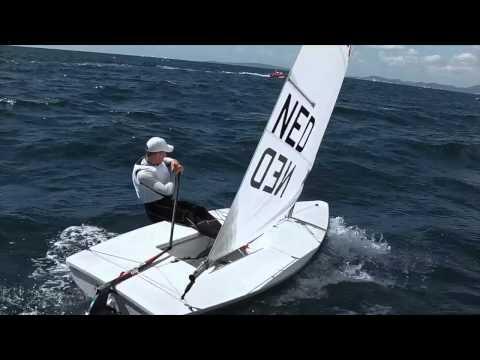 SportVid - Laser sailing upwind