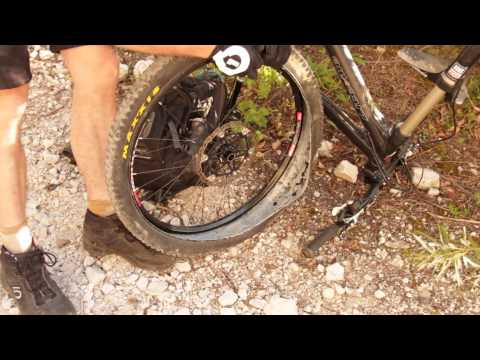 How to repair flat tubeless tire on a trail