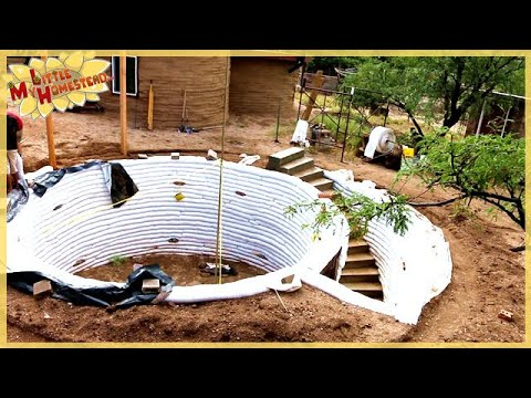 Completing the Stairs   Underground Earthbag Building Ep 5   Weekly Peek