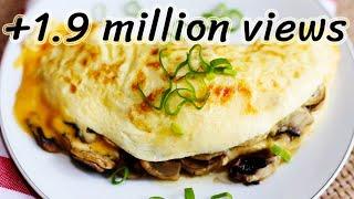 Mushroom Omelette : How to make mushroom omelette