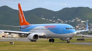 Sunwing Boeing 737-800 Close Ups & Take Off From St. Martin