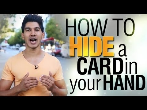 Sleight Of Hand REVEALED! | How To Hide A Card In Your Hand!