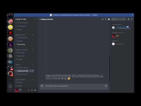 Easy to Code Discord Bot (Episode 2) Adding a Command Handler