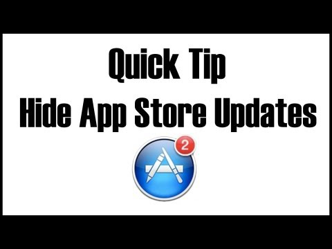 Quick Tip: Hide App Store Updates